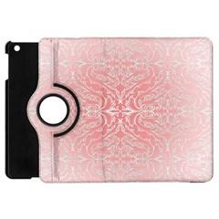Pink Elegant Damask Apple Ipad Mini Flip 360 Case
