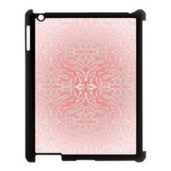 Pink Elegant Damask Apple Ipad 3/4 Case (black)