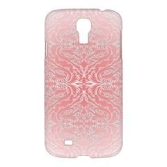 Pink Elegant Damask Samsung Galaxy S4 I9500 Hardshell Case