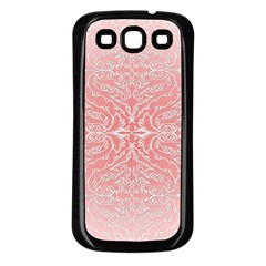 Pink Elegant Damask Samsung Galaxy S3 Back Case (black)