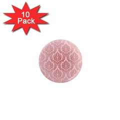 Luxury Pink Damask 1  Mini Button Magnet (10 Pack)