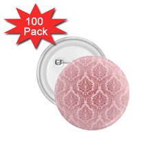 Luxury Pink Damask 1 75  Button (100 Pack)