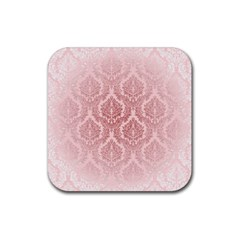 Luxury Pink Damask Drink Coaster (square)