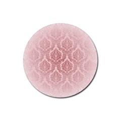 Luxury Pink Damask Drink Coaster (Round)