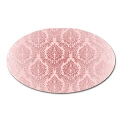 Luxury Pink Damask Magnet (oval)