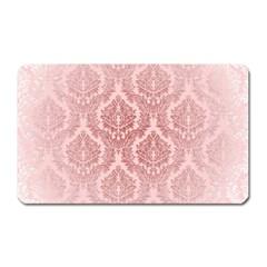 Luxury Pink Damask Magnet (Rectangular)
