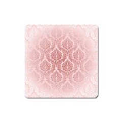 Luxury Pink Damask Magnet (Square)