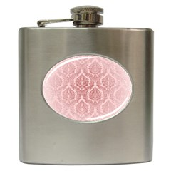 Luxury Pink Damask Hip Flask