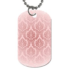 Luxury Pink Damask Dog Tag (Two Sided)