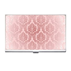 Luxury Pink Damask Business Card Holder