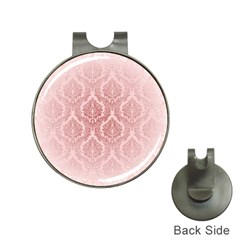 Luxury Pink Damask Hat Clip with Golf Ball Marker