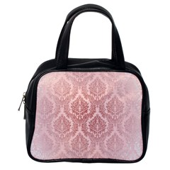 Luxury Pink Damask Classic Handbag (one Side)