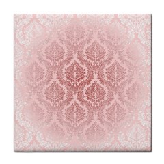 Luxury Pink Damask Face Towel