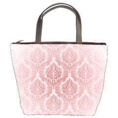 Luxury Pink Damask Bucket Bag