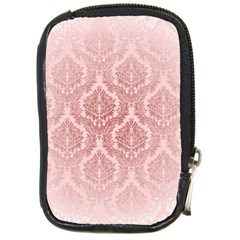 Luxury Pink Damask Compact Camera Leather Case