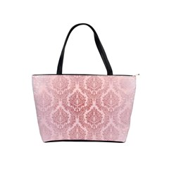 Luxury Pink Damask Large Shoulder Bag