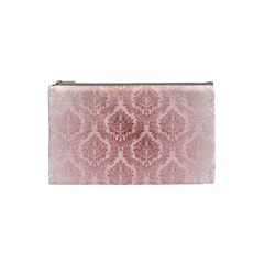 Luxury Pink Damask Cosmetic Bag (Small)