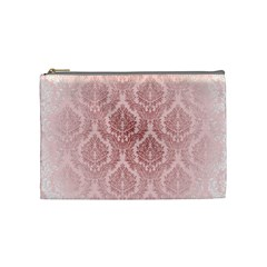 Luxury Pink Damask Cosmetic Bag (Medium)