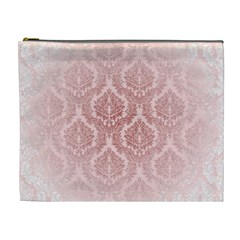 Luxury Pink Damask Cosmetic Bag (xl)