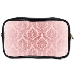 Luxury Pink Damask Travel Toiletry Bag (One Side)