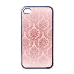 Luxury Pink Damask Apple iPhone 4 Case (Black)