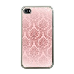 Luxury Pink Damask Apple iPhone 4 Case (Clear)