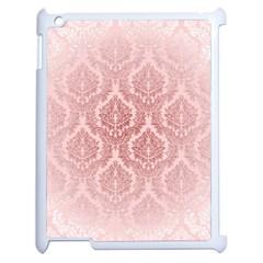 Luxury Pink Damask Apple iPad 2 Case (White)