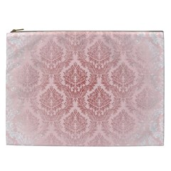 Luxury Pink Damask Cosmetic Bag (XXL)