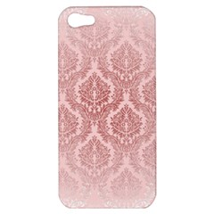 Luxury Pink Damask Apple iPhone 5 Hardshell Case