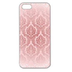 Luxury Pink Damask Apple Seamless Iphone 5 Case (clear)