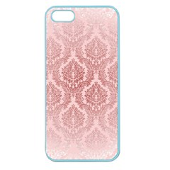 Luxury Pink Damask Apple Seamless Iphone 5 Case (color)