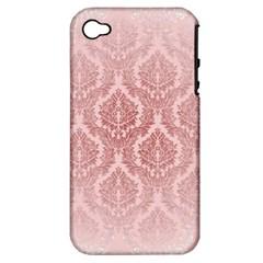 Luxury Pink Damask Apple iPhone 4/4S Hardshell Case (PC+Silicone)