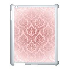 Luxury Pink Damask Apple iPad 3/4 Case (White)