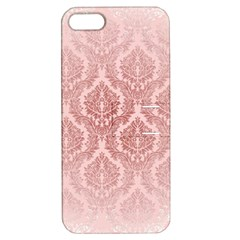Luxury Pink Damask Apple iPhone 5 Hardshell Case with Stand