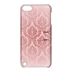 Luxury Pink Damask Apple Ipod Touch 5 Hardshell Case With Stand