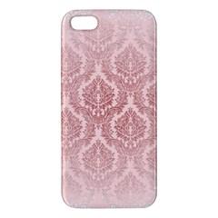 Luxury Pink Damask Iphone 5 Premium Hardshell Case