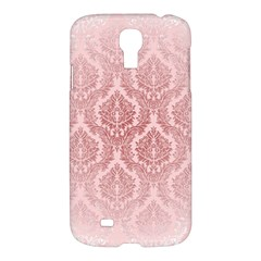 Luxury Pink Damask Samsung Galaxy S4 I9500 Hardshell Case