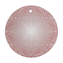 Pink Damask Round Ornament