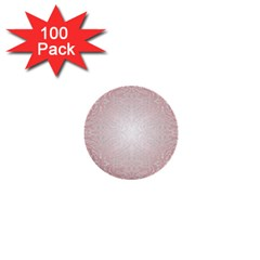 Pink Damask 1  Mini Button (100 pack)