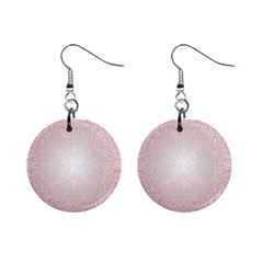 Pink Damask Mini Button Earrings