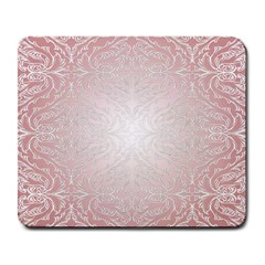 Pink Damask Large Mouse Pad (Rectangle)