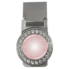Pink Damask Money Clip (CZ)