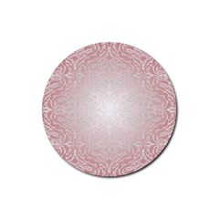 Pink Damask Drink Coasters 4 Pack (Round)