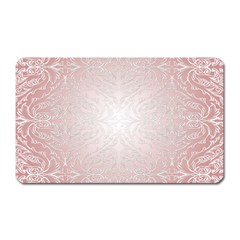 Pink Damask Magnet (Rectangular)