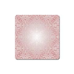 Pink Damask Magnet (Square)