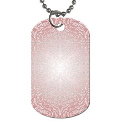 Pink Damask Dog Tag (two Sided)