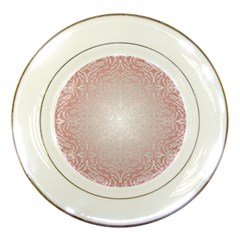 Pink Damask Porcelain Display Plate