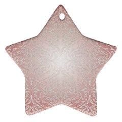 Pink Damask Star Ornament (Two Sides)