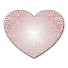 Pink Damask Mouse Pad (heart)