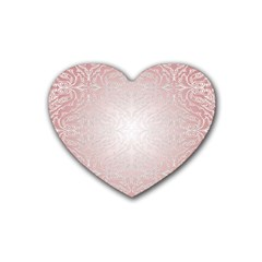 Pink Damask Drink Coasters 4 Pack (heart)